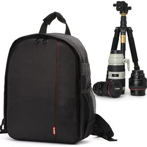 Caso cámara de vídeo de la mochila impermeable réflex digital de fotos al aire libre bolsa acolchada suave para Nikon / Canon / DSLR Multi-funcional de la cubierta del envío gratis
