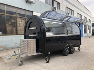 Mobil Gıda Fragman Gıda Kamyon 400x200x240cm Siyah