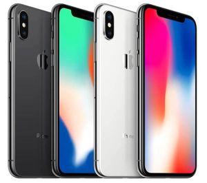 Yüz kimliği 64GB / 256GB iOS 13 5.8inch 12MP Çift Arka Kamera Yenilenmiş Kilitli Telefonları% 100 Orijinal Apple iPhone X