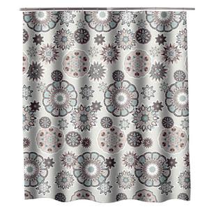 Jarl casa Fiore Tende modello doccia per bagno 72 * 72 pollici tessuto della tenda doccia con occhielli eleganti tende di acquazzone impermeabile