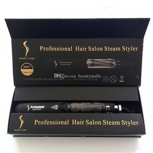 KangRoad Hair Straightener Professional Hair Iron Salon Steam Styler Flat Irons with CE Rosh DHL Shipping
