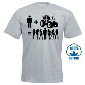 Verano Estilo Nueva camiseta de los hombres hacer mi propio T Shirttractor camiseta Botón granjero de arado Campos Harvester Plough Camiseta 010034