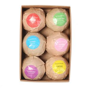 6PCS 유기 목욕 폭탄 거품 목욕 소금 볼 에센셜 오일 수제 스파 스트레스 릴리프 엑스 폴리 에이 팅 민트 라벤더 로즈 맛 Epacket 무료