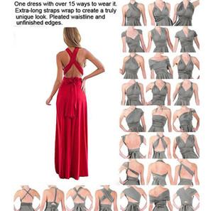 Convertible Styles Mixed Neck Brautjungfer Kleider Sommer Land-Kleid-Frauen-Abend-Abschlussball-Partei-Kleider LQ2035