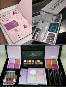 Hot venda de maquiagem batons paleta pó Set contorno corretivo Gift Box Brilho marcador Blush Natal JOGO Cosméticos Big Box Kit eu quero