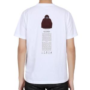 19ss ARCHIVIO T-SHIRT TOPSTONEY di stampa della lettera Tee modo casuale allentato donne degli uomini a maniche corte T-shirt HFSSTX0002