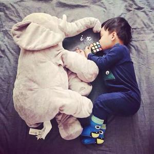 Long Nose Elephant Doll Pillow Weiches Plüsch Kissen Lendenkissen Für Baby Kids 5 Farben Tierbabys Gefüllte Heimtextilien
