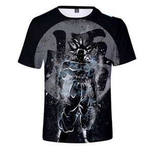 El más nuevo Cute Kid Goku 3D T-shirt DBZ Camisetas Mujeres Hombres Camisetas gráficas Anime Dragon Ball Z Super Saiyan Camisetas Harajuku Tee Shirt