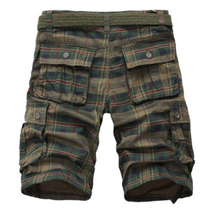 Hip hop New Men's Cotton Cargo Shorts Good Quality Multi-pocket Camouflage Tooling Shorts Male Outdoors Casual Size