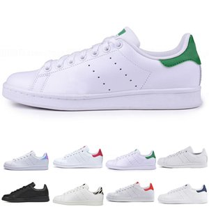 Adidas stan smith Summer Smith Casual chaussures pas cher Raf Simons Stan Smiths Printemps Cuivre Blanc Rose Noir Mode Homme Cuir marque femme chaussures Chaussures Baskets