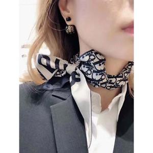 Caldo-vendita di primavera di moda europea e del nastro dei capelli del nastro americano francese di seta lungo di raso sciarpa sciarpa sciarpa del nastro