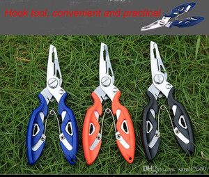 wholesale Fishing Plier Steel Tackle Lure Hook Remover Line Cutter fishing scissors outdoor activities ABS handle 2CR13 material free shipp