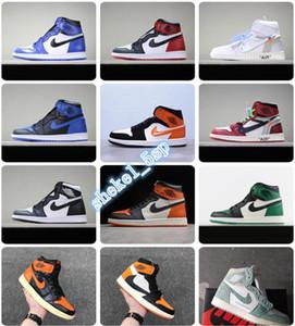 2020 air SnakeskinJordanRetro 1 quality Sneakers men women fly Basketball sneakers chaussures Shattered Backboard