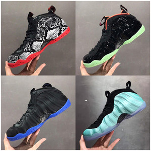 Foam Outdoor Basketball Shoes Penny Hardaway Foam One Denim Habanero Red Eggplant Foams Chaussures Trainers