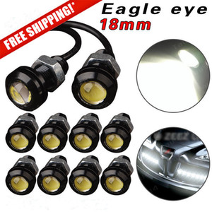 10pcs 18 milímetros 23 milímetros 12V 24V 6000k White Eagle Eye Motor Car Cauda Brake Vire Estacionamento Singal FOG LED Light reverso Signal Branco