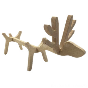 Adorable elk Wooden Wine Rack Creative Wine Ornament Home Decor Barware Kitchen, Dining & Bar Great Gift