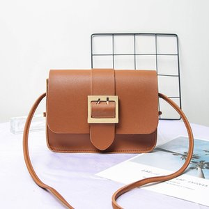 Frauen Small Square Bag Large Pin Buckle Schultertasche Solid Color Messenger Bags Ketten Damen Totes