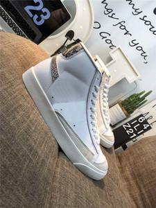 2019 de haute qualité Blazer Mid '77 Vintage Snakeskin skatebord Chaussures Hommes Femmes Reptile Blanc Rouge Bleu Vert Chaussures de sport Taille 36-44