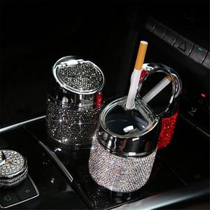6,5 centimetri diamante auto posacenere per la ragazza di cristallo delle donne strass Posacenere Car Interior Decor universale cilindro porta accessori