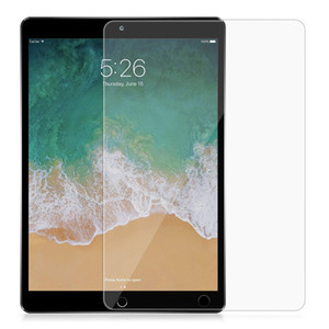 Protetor de Tela 9H vidro temperado para iPad 10.2 2019 1/2/3 ar 1 de ar 2 ipad 2017 2018 pro 10,5 nenhum pacote 100pcs / lot
