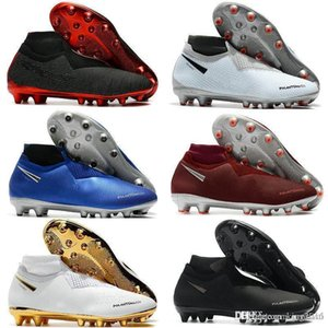 Chuteiras de futebol Mens Fantasma VSN Elite DF AG meia Sapatos de Futebol Ao Ar Livre x EA Esportes Fantasma Visão Futebol Botas Scarpe calcio Tamanho 39-45