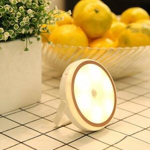 Магнит может поглотить UBS перезаряжаемые свет ночи SmarT человеческого тела индукции LED спальня прикроватные фары трансграничную горячей продажи
