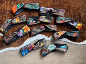 Moda Luxo Designer Bandas Cruz Headband Mulheres menina do cabelo Elastic Presentes Scarf RetroTurban headwraps Flores Orchid Headbands presente da jóia