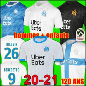 TOP 19 20 Maglia da calcio Olympique De Marseille soccer jersey football shirt OM jerseys 2019 2020 PAYET GUSTAVO THAUVIN maglia da calcio uniformi uomini bambini 120 anni