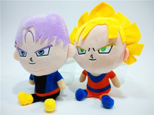 23cm Dragon Ball Z en peluche Jouets 2019 New Cartoon Krilin Vegeta Goku Gohan Piccolo Beerus farcies Poupées Enfants cadeau de Noël jouets 1513