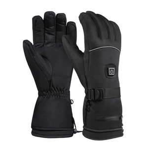 Ski Gloves Electric Heated Warm Gloves 3 Levels Temperature Control Warmer for Riding Waterproof Battery Powered Outdoor Motorcycle Gloves