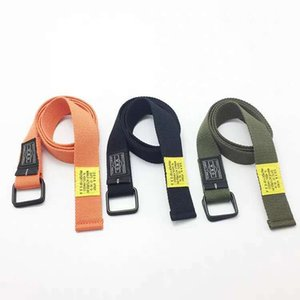 Korean Style Belt Men and Women Canvas Belt Cool Ins Simple and Versatile Fashion Young Students Long Pants Belt