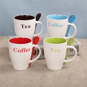 Taza de agua con mango de cerámica Multicolor Tazas de café resistentes al calor de regalo de alta capacidad del vaso vaso originalidad práctica caliente venta 4cxb1