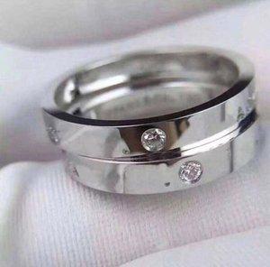 Avere francobolli AU750 18 carati di oro lettera anelli di progettista di diamante per mens signora e delle donne di lusso gioielli di fidanzamento di nozze del partito per le coppie