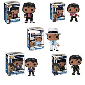 2020 5 estilos Funko Pop Michael Jackson Figuras de Ação boneca brinquedos 10cm PVC Ação Música Superstar boneca Modelo Brinquedos caçoa o presente L544