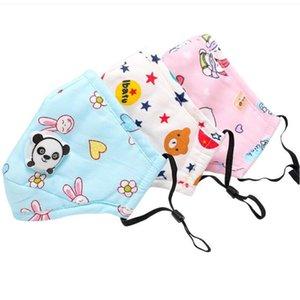 PM2,5 enfants bouche Masque respiratoire Valve Panda Cartoon Épaissir Smog Mask chaud poussière Fits 2-10 Ans Enfants