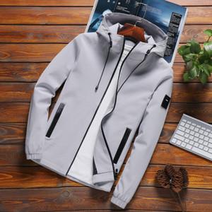 Nouvelle Arrivée Casual Jacket Solid Vestes À Capuche Mens De Mode Zipper Drop Shipping Livraison Outwear Slim Fit Printemps Automne Vêtements de Haute Qualité