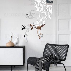 Дешевые наклейки DIY весной природа свежие яркого зеркало завода декоративные наклейки для спальни въездных декора украшения стен жилого комната R049