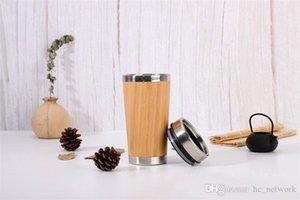450ml Bambu Seyahat Mug Bambu taklacı Su Şişesi Bambu Shell Su Kupa Çay demlik Seyahat Mug Hediye Özelleştirme