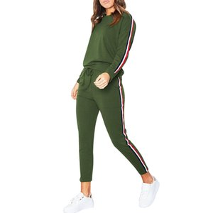 Women's 2019 Spring Running Sports Clothes Fitness Jogging Tracksuit Hoodies Sweatshirt Top Pants Sets SportWear Suit Sport Suit