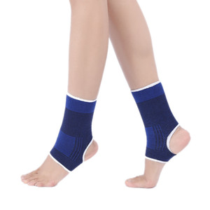 Soporte de tobillo Banda elástica Braza Gimnasio Deportes Promoción Proteger Tknitting Helapy Dolor Mantener el cálido zafiro azul 0 7Jr F1