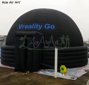 Nuovo stile logo cupola planetario gonfiabile tenda, schermo di proiezione tendone, baldacchino film, sala formazione con 5 anelli per spettacolo