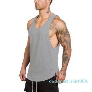Male Clothing Fitness Tank Top Men Stringer Sleeveless Bodybuilding Muscle Shirt Workout Vest Gyms Undershirt Sleeveless Men Tops d04
