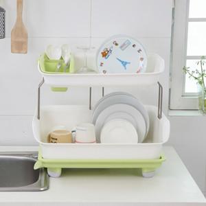 다기능 접시 드레 이너 랙 홀더 주방 식기 젓가락 보관 접시 선반 주방 액세서리