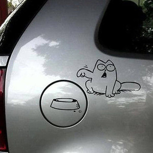Мультфильм Cat наклейка автомобиля винила ноутбук окна стены автомобиля бампер танк Pad наклейка на бампере двух видах графической новой