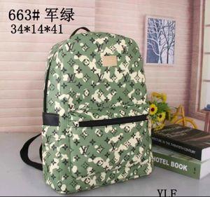 2020 Student Backpack Mens Female Backpack Hot Brand Double Shoulder Bags Male School Bags Leather Shoulder Bag Computer Bag 663-2#