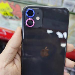 3D Tam Kapak Kamera Lens Ekran Koruyucu Kılıf iPhone 11 Pro Max Kamera Koruyucu temperli cam Artı Koruma Metal Halka için