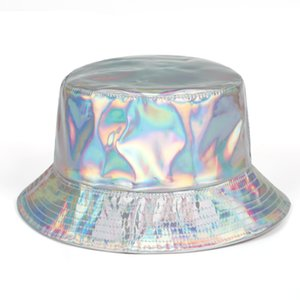 Bucket Hat reflexiva Pesca Cap Marca Laser Hipster Casual Bucket Hat Out Cold protectores solares Pescador Chapéus Hip Hop Caps Casual