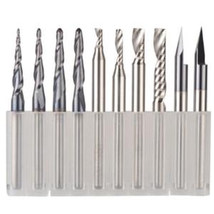 CNC Metal Duro gravura Bits fresa para trabalhos em madeira Set 3,175 mm Shank Roteador Bits para Carving ferramentas de madeira
