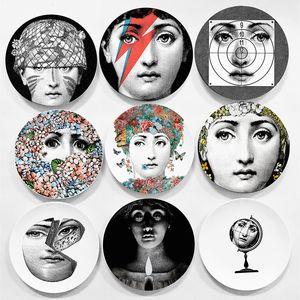 장식 8 인치 접시 매달려 유럽 밀라노 스타일 화려한 희귀 포나 세티 플레이트 리나 전구 얼굴 피에로 포나 세티 벽
