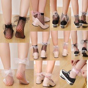 Japanese Lolita Spring and Summer Thin Socks Women Girls Transparent Mesh Female Moon Stars Five-pointed Star Lace Socks